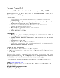 Resume With Qualifications Appealing Accountant Clerk Resume With General Duties For Perform