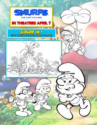 free smurfs the lost village printable activities