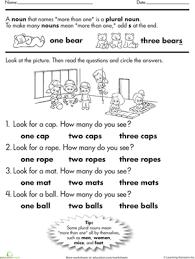 grammar time plural nouns worksheet education com