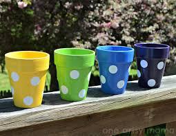 polka dot flowerpots amy latta creations