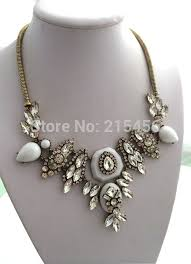 statement necklace white images N2044 new fashion crew white bead statement necklace white jpg