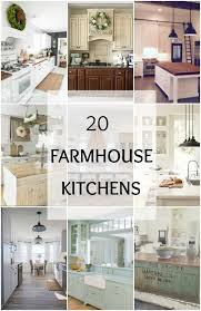 Farmhouse Kitchen Furniture 20 Farmhouse Kitchens For Fixer Upper Style Industrial Flare