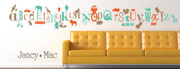 Alphabet Wall Decals For Nursery Alphabet Wall Decal Nursery Wall Decor Animal Boy Vinyl Wall