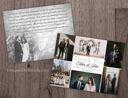 modern wedding thank you postcards designed by brenda