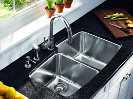 Kitchen Sink Brands by Kitchen Faucet Black Modern Double Square Bowl Overmount