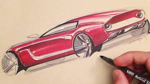 car sketching with markers surprise youtube