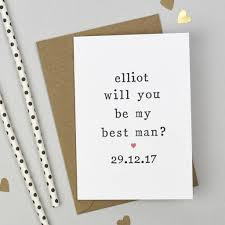 will you be my best personalised will you be my best card by the two wagtails