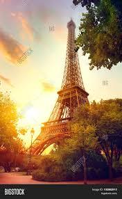 paris eiffel tower sunrise paris image u0026 photo bigstock