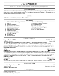 Sample Occupational Therapist Resume by Ot Resume Example Chad Meyers Resume Occupational Therapist 2014