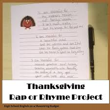 i m thankful for the thanksgiving rap or rhyme ms dickson s class