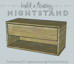 more like home nightstands day 9 floating nightstand with drawer