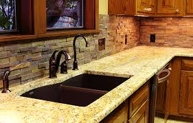 Stacked Stone Backsplash For Kitchens Texas Custom Stone - Layered stone backsplash