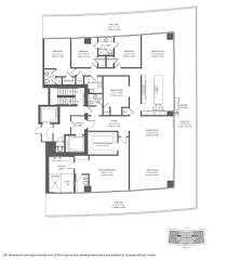 Parkland Residences Floor Plan by Apogee South Beach Miami Beach Apogee South Beach Condo Miami