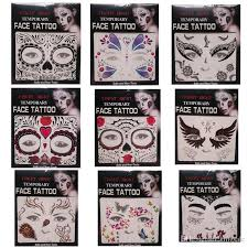 christmas toy halloween party fright night temporary face tattoo