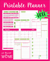 free printable mom planner 2015 printable planner all things moms