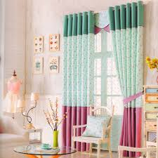Light Green Curtains by Chic Light Green Floral Pattern Curtains For Kid Bedroom No