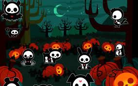 helloween wallpaper helloween pumpkin and skull hd wallpaper