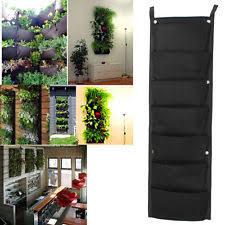 Ebay Vertical Garden - 7 pocket hanging vertical garden planter for walls outdoor indoor