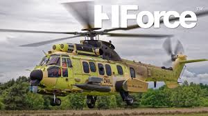 french air force h225m caracal in flight refuelling just