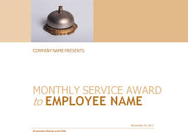 employee service award certificate template