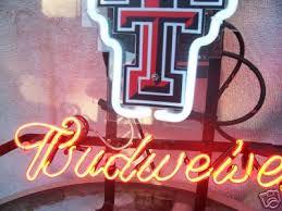 texas tech neon light brand new texas tech red raiders budweiser beer bar display pub