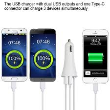 Car Phone Charger With Usb Port New Type C Car Vehicle Charger With Dual Usb Ports For Type C Cell
