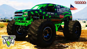 monster truck videos on youtube gta 5 liberating mount chiliad epic gta online monster truck