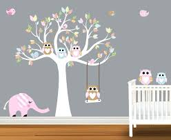 Brown Tree Wall Decal Nursery Monkey Wall Decor For Nursery Fascinating Pink And Brown Safari