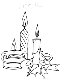 christmas coloring book for kids candles coloring page