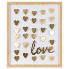 where to buy gold foil buy gold foil hearts and framed mobile wall from bed bath