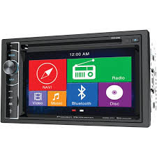 amazon com power acoustik pdn 626b double din am fm dvd bt 6 2