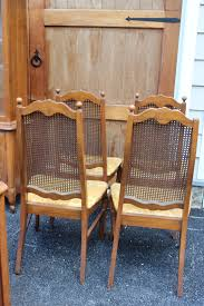 cane back dining chairs set of four french louis xv cane back