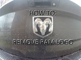 custom dodge ram badges how to replace ram emblem on tailgate remove