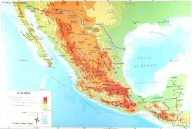 political map of mexico mexico topographical and political maps