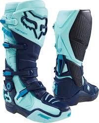 motocross boots fox fox mx boots instinct ice blue limited edition glen helen 2016