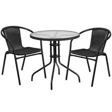Round Glass Table And Chairs Outdoor Bistro Sets Shop The Best Deals For Nov 2017 Overstock Com