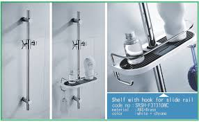 White Bathroom Shelf With Hooks by Sr Sun Rise Shower Caddy For Slide Bar Rust Resistant And Bath