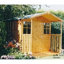 Garden Shed Summer House - casita shed summerhouse with optional veranda