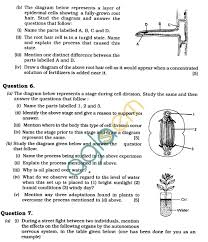 Cell Division Worksheet Answers Icse Class X Exam Question Papers 2011 Biology Science Paper 3