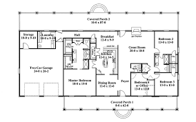 one story home floor plans one story ranch style house plans traditional house plan