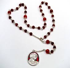 sacred heart rosary seed chaplet of sacred heart of jesus b michelis shopinas