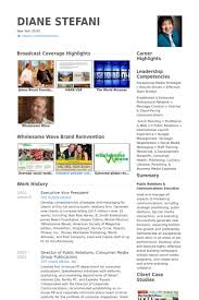 Website Resume Examples by Executive Vice President Resume Samples Visualcv Resume Samples
