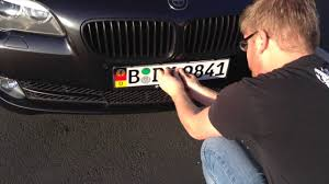 Front Vanity Plates How To Mount Your Custom European License Plate Using 3m Dual Lock