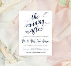 Mirs Rugs Wedding Brunch Invitation Printable Post Wedding Invitation