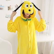winter flannel pajamas sets anime animal onesie for women