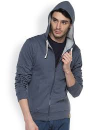 campus sutra blue denim hooded sweatshirt at rs 979 from myntra