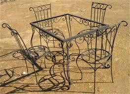 table de cuisine en fer forgé les trésors de safi table en verre