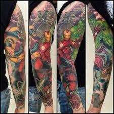 marvel sleeve sleeve tattoos marvel and
