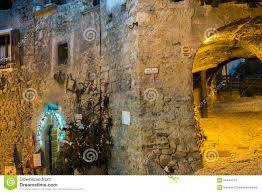 italy medieval village xmas decorations stock photo image 63444014