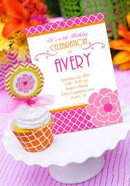 garden party invitation garden flower birthday invitation